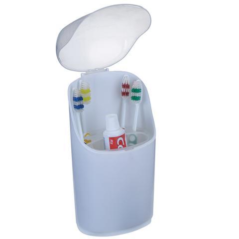Imagem de Porta Escovas de dente e Pasta com tampa em plástico - Arthi
