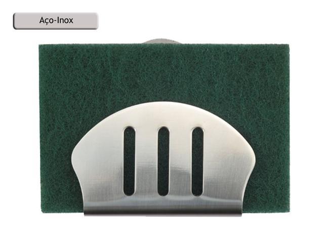 Imagem de Porta Esponja de inox com ventosa - concha