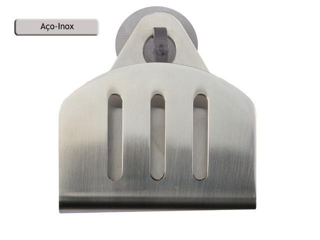 Imagem de Porta Esponja de inox com ventosa - redondo