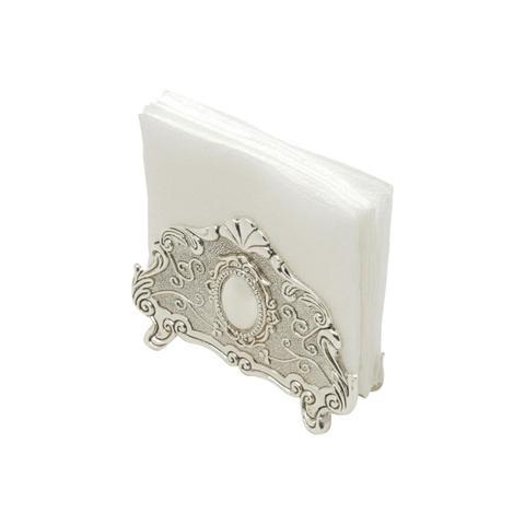 Imagem de Porta-Guardanapo 13 cm de zamac prateado Prestige - 35574