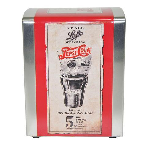 Imagem de Porta Guardanapos em Metal Estampa Papiro Pepsi Cola 17811