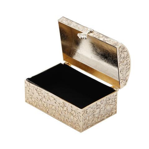 Imagem de Porta Jóia Retangular Dourado De Zamac Prestige