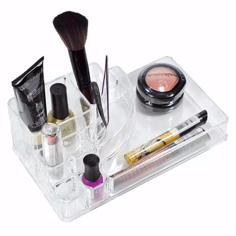 Imagem de Porta Maquiagem Batom em Acrilico Retangular com 8 Divisórias