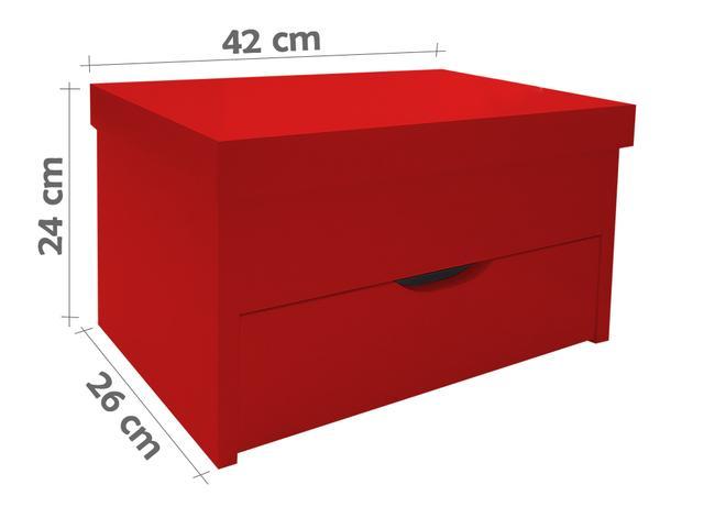 Imagem de Porta Maquiagem Caixa Organizadora com Espelho - Vermelho Laca