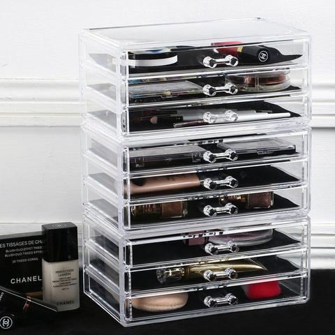 Imagem de Porta Maquiagem de Acrilico Joias e Escritorio Organizador 10
