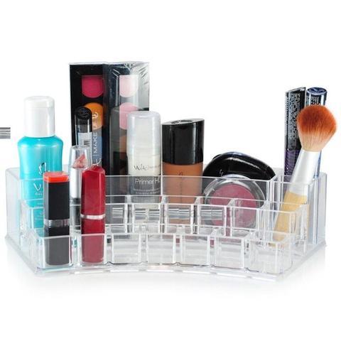 Imagem de Porta maquiagem organizador de cosmeticos esmaltes caixa organizadora com 19 divisorias