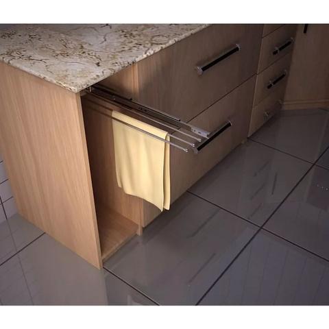 Imagem de Porta Pano De Prato Triplo Deslizante Com Trilho Cozinha