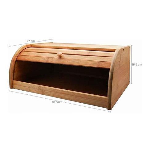 Imagem de Porta Pão Com Tampa Em Bambu 40cm Tyft Yoi