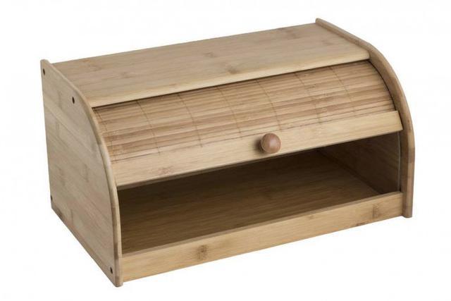 Imagem de Porta Pão em Bambu Com Tampa De Correr Ecokitchen