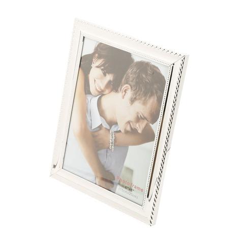 Imagem de Porta-retrato 13 x 18 cm de aço prateado Knot Prestige - 25503