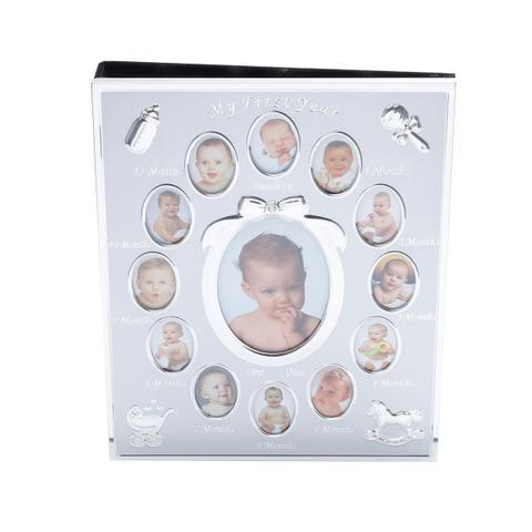 Imagem de Porta Retrato De Alumínio Com Álbum Para 76 Fotos Infantil Prestige