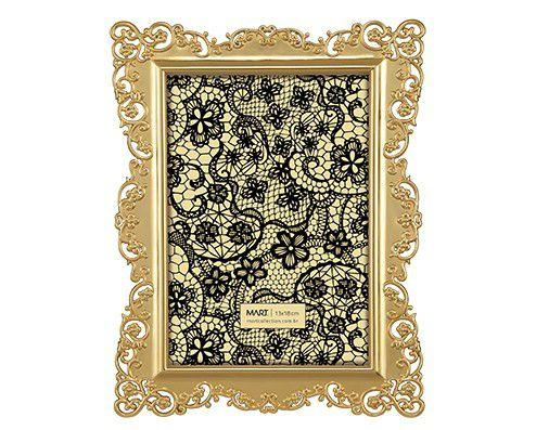 Imagem de Porta-retrato dourado 13x18