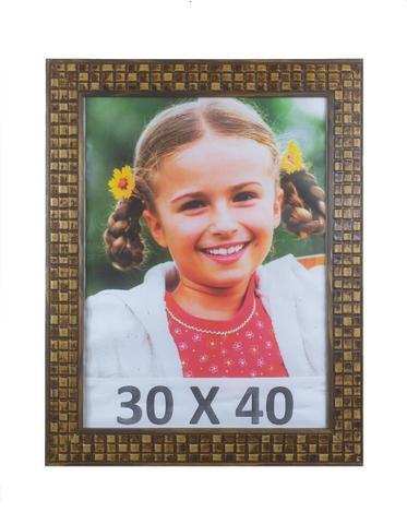 Imagem de Porta Retrato Moldura Super Luxo 30X40 Com Vidro Mosaico