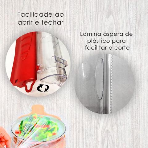 Imagem de Porta Rolo Corta Fácil Papel Alumínio Filme Manteiga 34cm