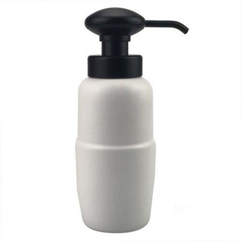 Imagem de Porta sabonete liquido de porcelana branco e preto
