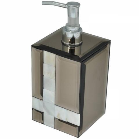 Imagem de Porta sabonete líquido espelhado com detalhes em madrepérola