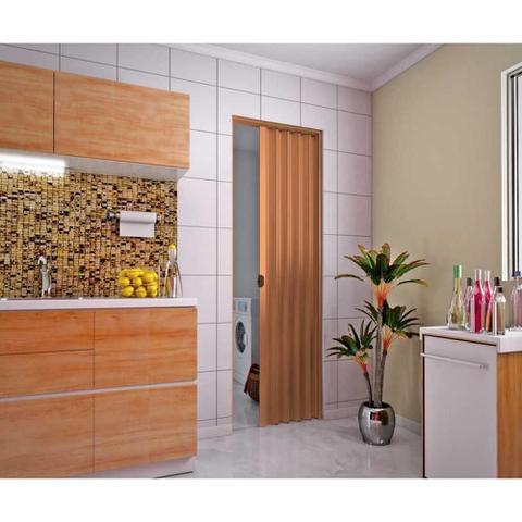 Imagem de Porta Sanfonada  80 x 210cm Plasbil Mogno