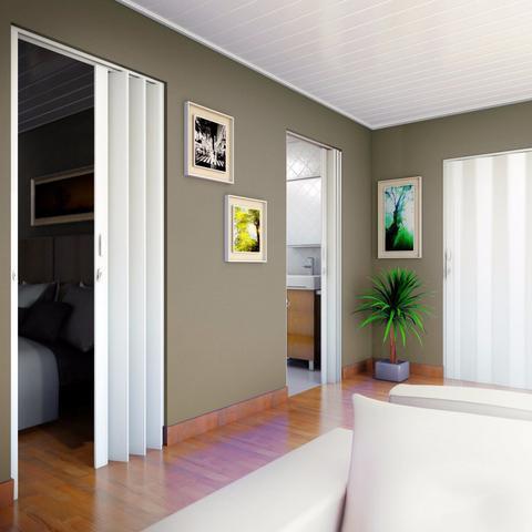 Imagem de Porta Sanfonada PVC Polifort 210cmx70cm Branco Neve