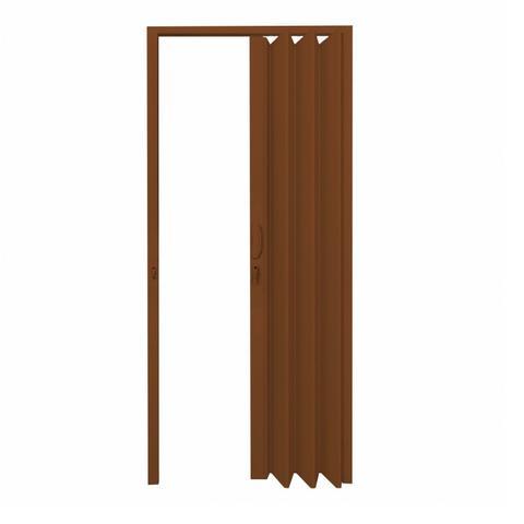 Imagem de Porta Sanfonada PVC Polifort 210cmx70cm Mogno