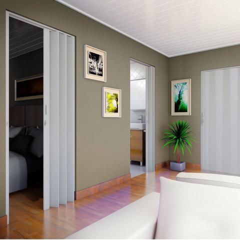 Imagem de Porta Sanfonada PVC Polifort 210cmx90cm Cinza