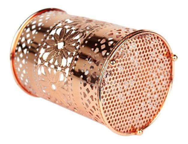 Imagem de Porta Talher Escorredor De Talheres Metalizado Rose Gold