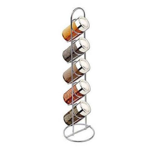 Imagem de Porta Temperos com 5 Potes para Condimentos e Suporte Vertical