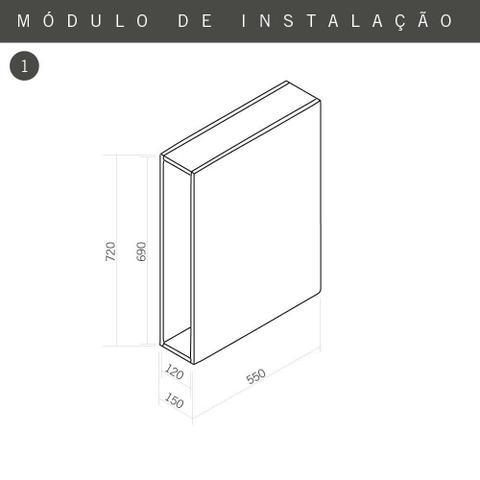 Imagem de Porta Temperos Cromado 120 x 480 mm - 2319 Masutti Copat