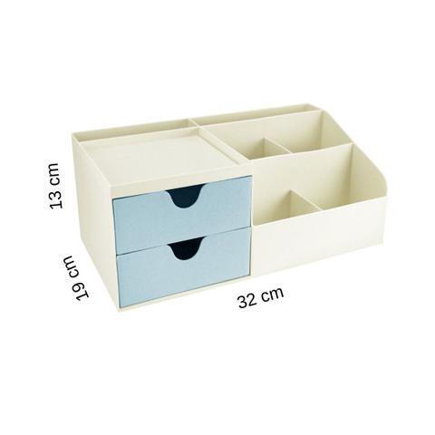 Imagem de Porta treco organizador de mesa Azul Multifuncional