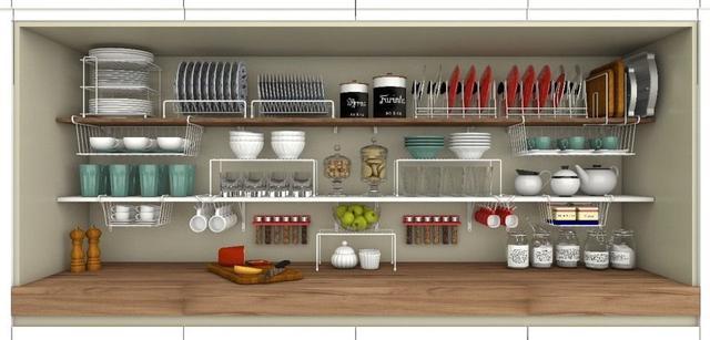 Imagem de Porta Xícaras Suporte Organizador Armário Cozinha Aço Forte