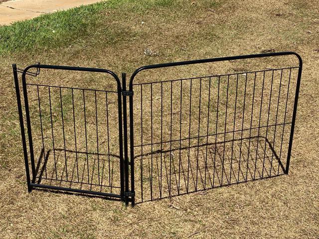 Imagem de Portão Cercado Cães Coelho Canil Cercadinho Cachorro Pet Util 1/90 Preto