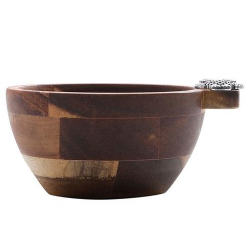 Imagem de Pote Coruja Branca de Vidro e Bowl Madeira 200ml com Colher
