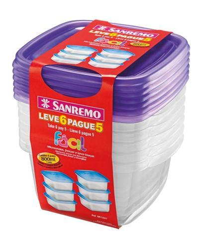 Imagem de Pote de Plástico Fácil 800 ml L6P5 Sanremo