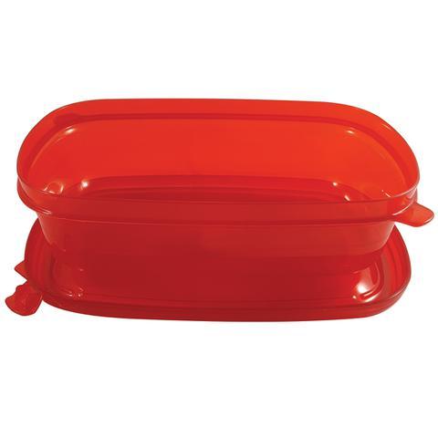 Imagem de Pote Hermético de 1400ml Cores Variadas Freezer Microondas Vermelho
