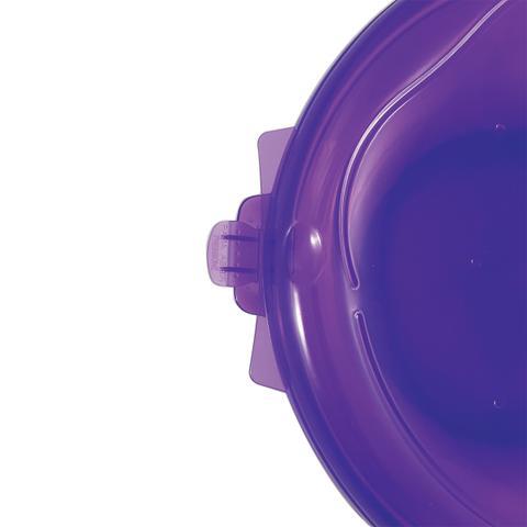 Imagem de Pote Hermético Freezer Microondas Redondo Capacidade 2720ml Lilas