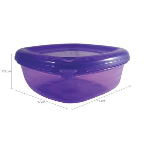 Imagem de Pote Hermético Quadrado Freezer Microondas 1178ml Lilás
