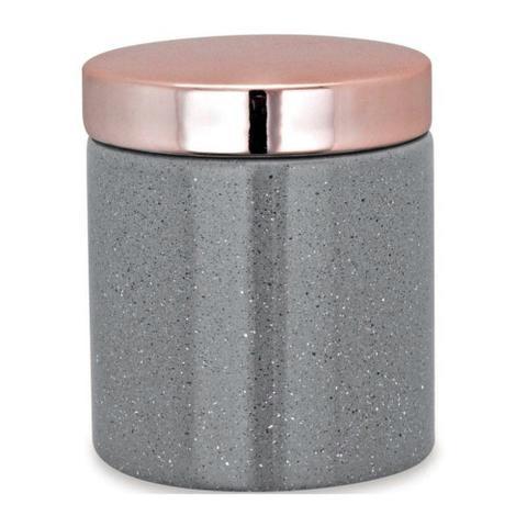 Imagem de Pote Organizador em Cerâmica 10cm - Cinza - Mart
