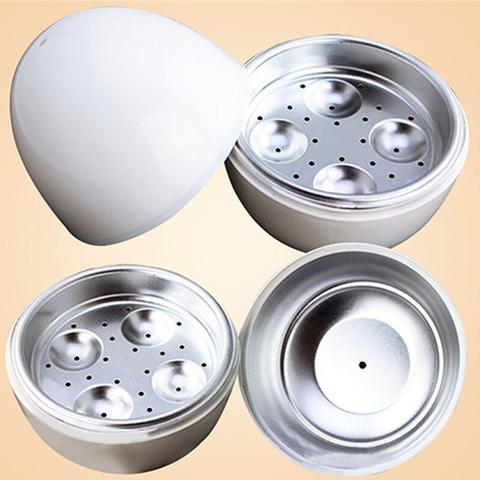 Imagem de Pote Para Cozinhar Até 4 Ovos Microondas Cozedor Forma Ovo
