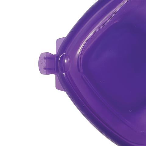 Imagem de Pote Plástico Herméticos Quadrado Capacidade 796ml Lilas