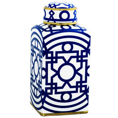 Imagem de Pote Potiche Cerâmica Decoração 14,5X31,5X14,5Cm