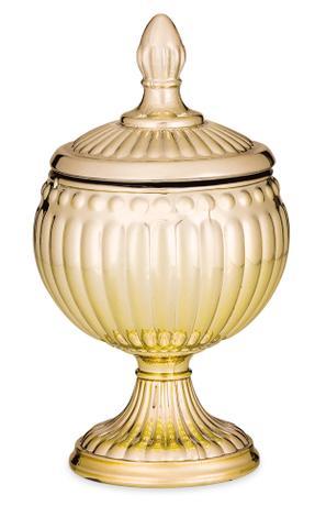 Imagem de Pote vidro Dourado 15cm