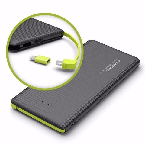 Imagem de Power Bank Pineng Slim Pn951 10000mah 100% Original Preto