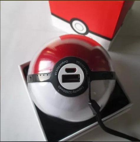 Imagem de Power bank Pokébola Pokémon Com Projetor de Imagem