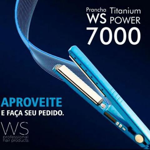 Imagem de Prancha Chapinha Alisadora Profissional Progressiva Bivolt WS Titanium Power 7000