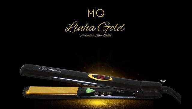 Imagem de Prancha - Chapinha Profissional Unique Slim Titanium Gold MQ 450F