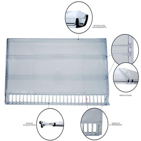 Imagem de Prateleira Acrílica Refrigerador Geladeira Bosch Ksu40 Ksu44