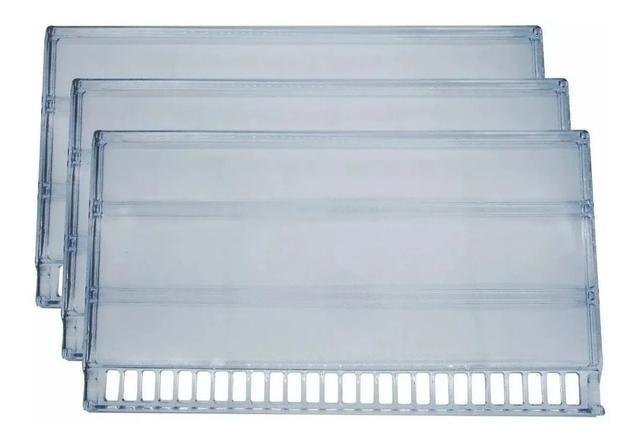 Imagem de Prateleira Acrílica Refrigerador Geladeira Continental Bosch Mabe GE DTP Plásticos Mais Resistente