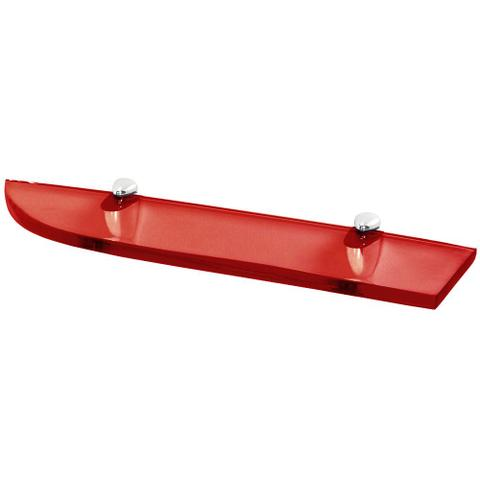 Imagem de Prateleira Para Banheiros em Poliéster Tomazina 50cm x 14cm  Vermelho Transparente