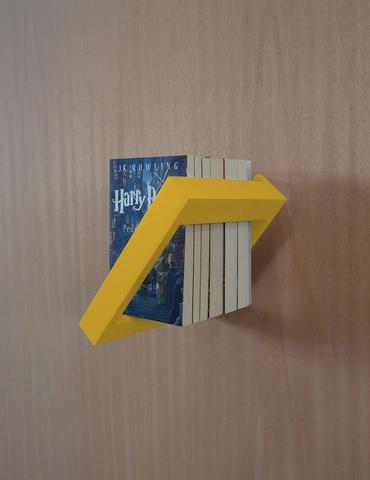 Imagem de Prateleira Porta Livros Suporte Estante Nicho Decorativo Parede - Amarelo Laca