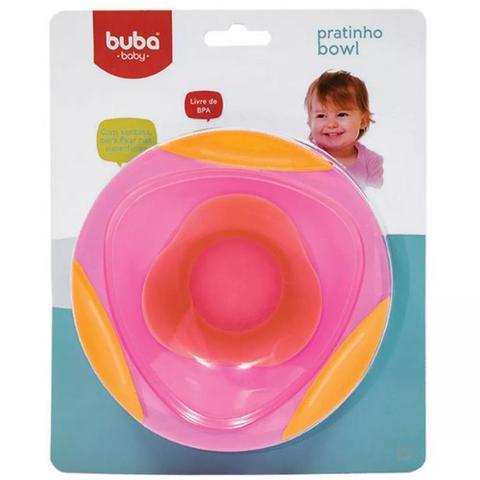 Imagem de Pratinho Bowl Rosa com Ventosa - Buba