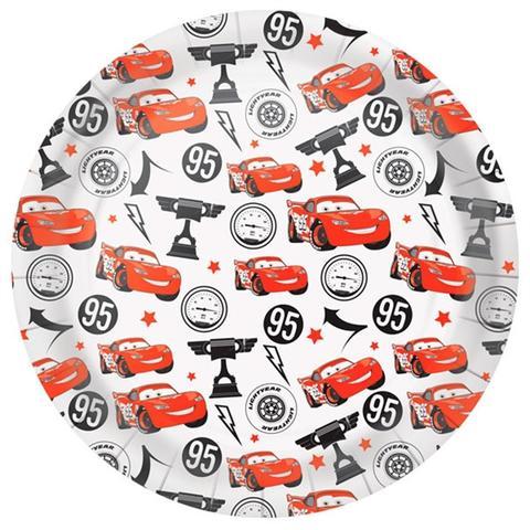 Imagem de Prato Descartável Carros Silver 18cm 08 unidades Regina Festas